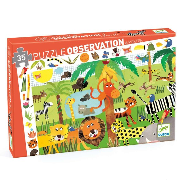 Puzzle Wimmelbild Dschungel - 35 Teile