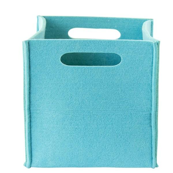 Filz Aufbewahrungsbox hellblau klein