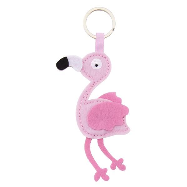 Filz Schlüsselanhänger Flamingo