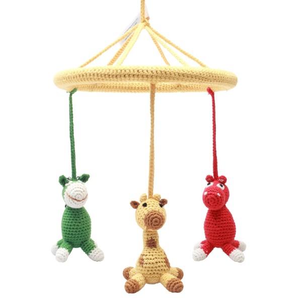 NATUREZOO DENMARK Mobile - Nashorn, Giraffe und Esel