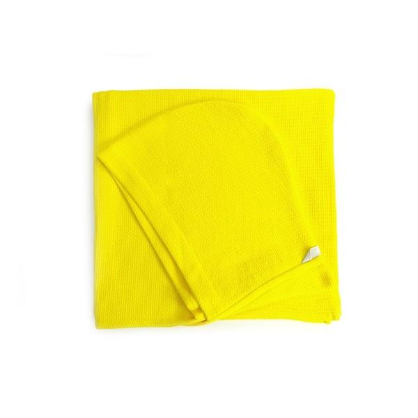 Biobu Kinder-Kapuzenhandtuch Lemon