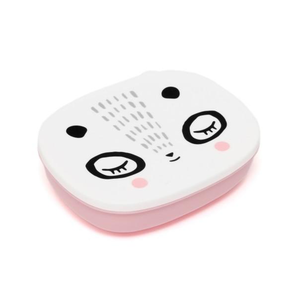Brotbox Mrs Panda - rosa & weiß