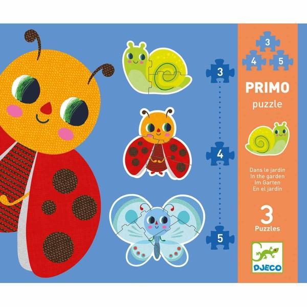DJECO Puzzle: Im Garten - 3, 4, 5 Teile