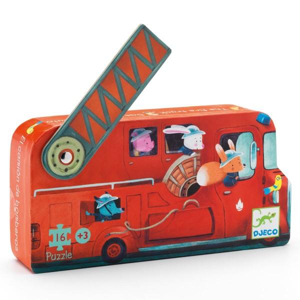 Puzzle: Das Feuerwehrauto - 16 Teile