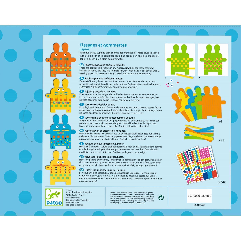 Papierweben 6 Hasen Basteln Mit Stickern Kleine