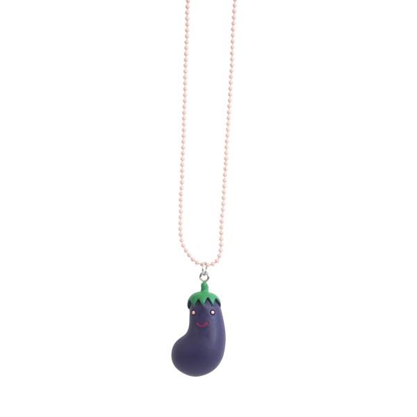 Halskette Aubergine