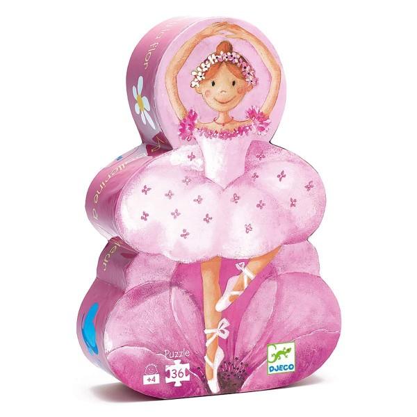 Puzzle: Ballerina mit Blumen - 36 Teile