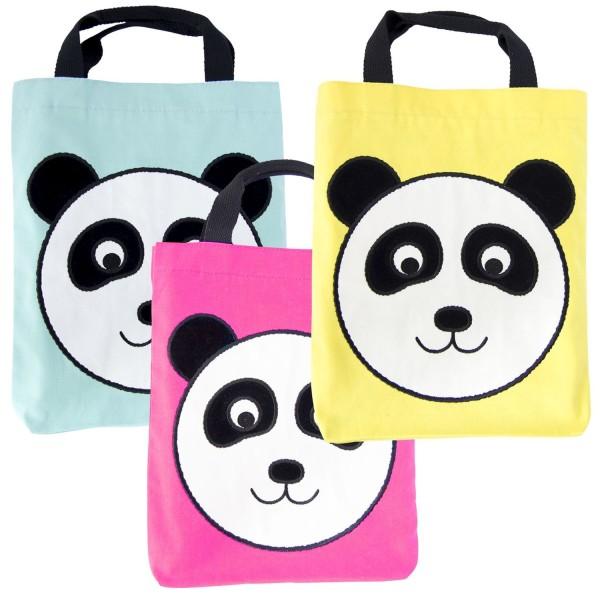 Stofftasche Panda sortiert