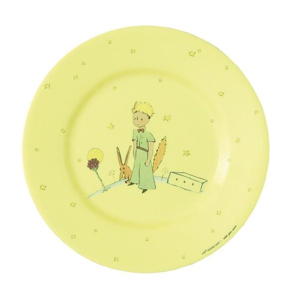 Melamin - Dessertteller gelb Der kleine Prinz