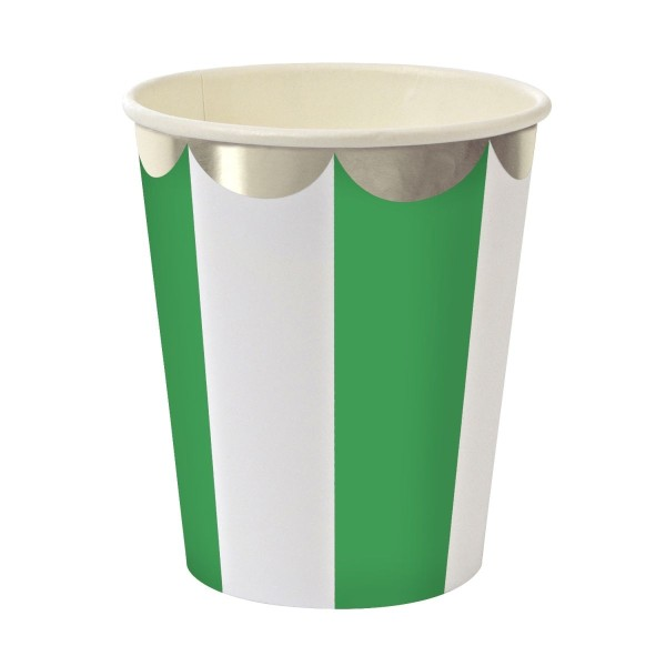 Toot Sweet Pappbecher, green stripe