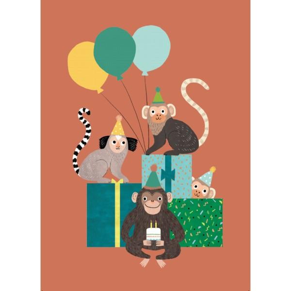 Postkarte Affen