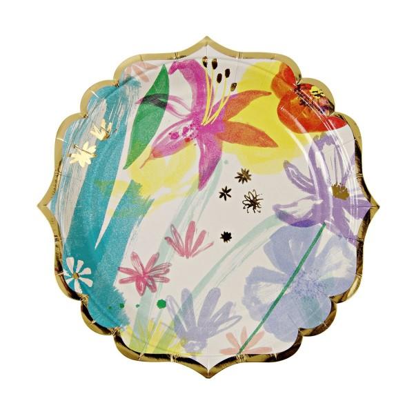 """Toot Sweet """"Painted Flowers"""" Pappteller, klein"""