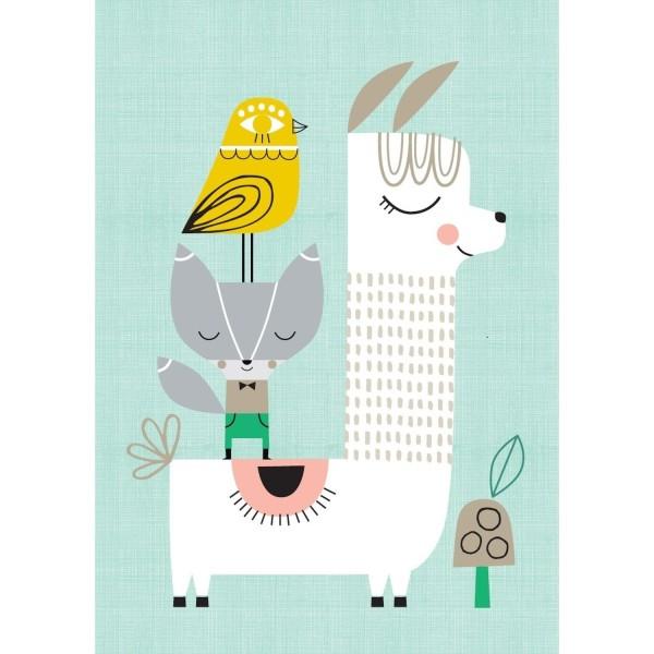 Poster Lama & Freunde