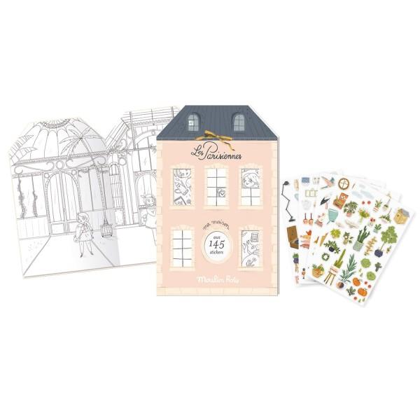 Malbuch mit Stickern Les Parisiennes