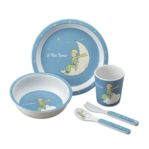 5-teiliges Service in Geschenkbox blau Der kleine Prinz