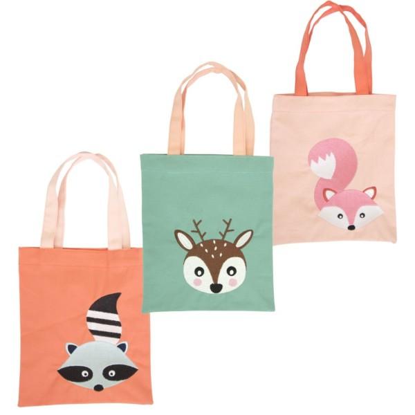 Stofftasche Woodland Tiere, sortiert