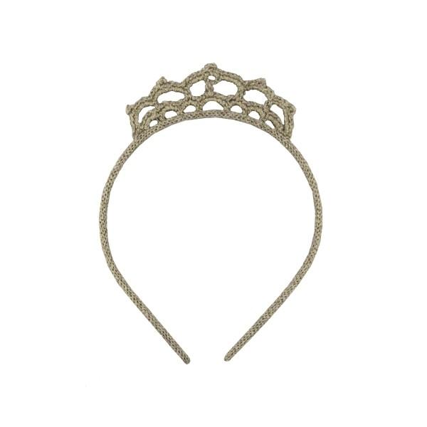 Haarreif Krone silber