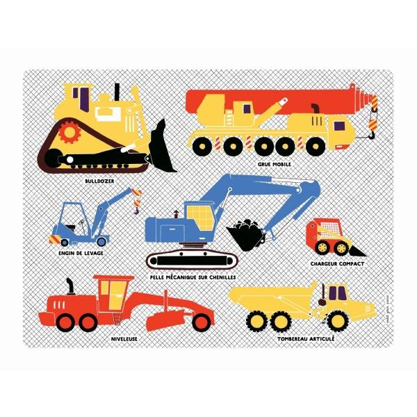 Tischset Baufahrzeuge