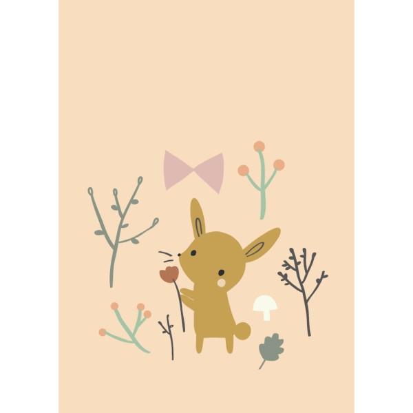 Postkarte Kaninchen