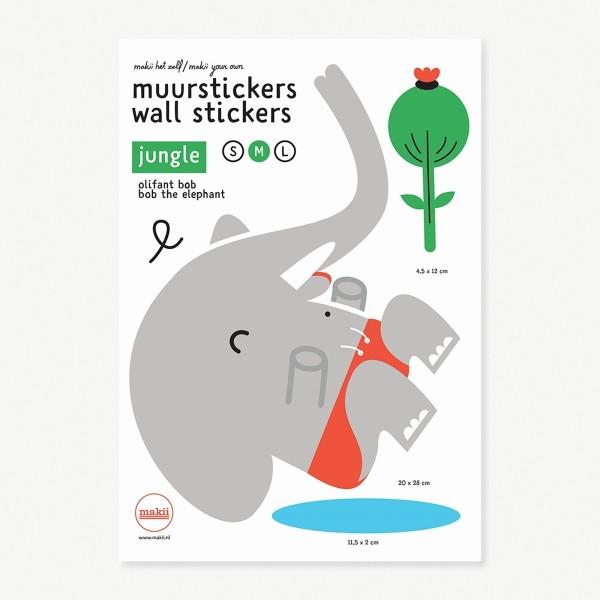 MAKII Wandsticker Bob der Elefant