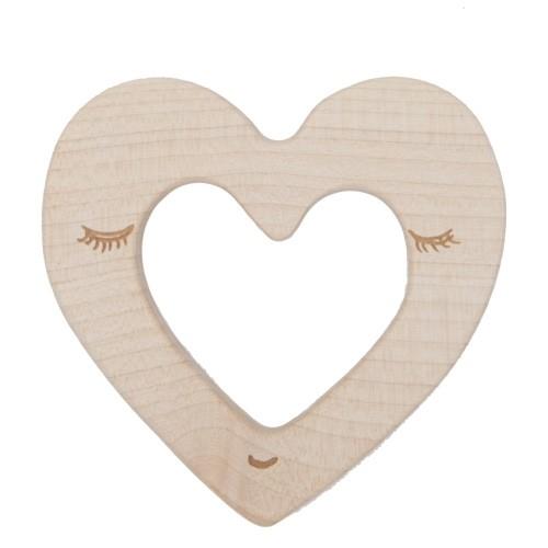 Beißring aus Holz - Herz (FSC)