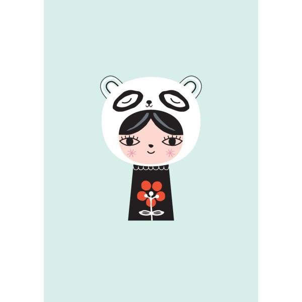 Postkarte Panda