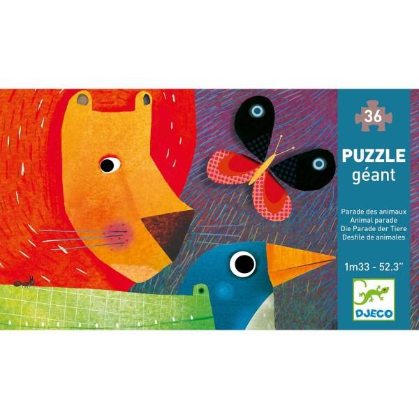 DJECO Puzzle Tierparade - 36 Teile