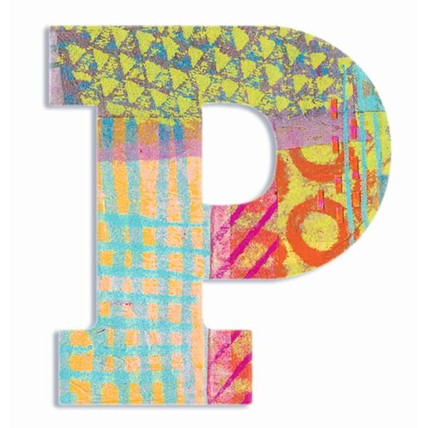Buchstabe Serie Pfau - P