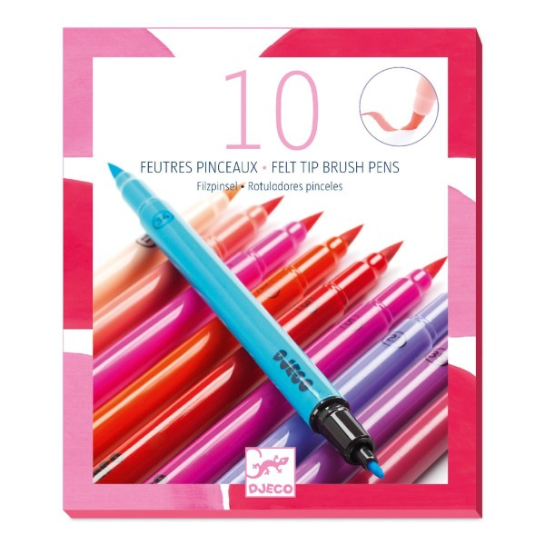 DJECO Farben: 10 Filzstifte - Pink