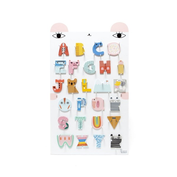 Petit Monkey Display Holzbuchstaben