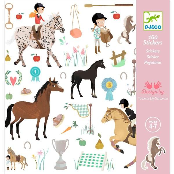 DJECO Sticker: Pferde