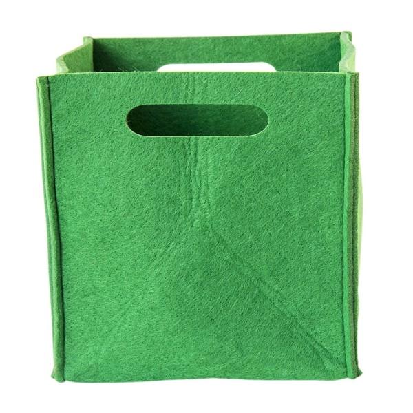 Filz Aufbewahrungsbox grün klein