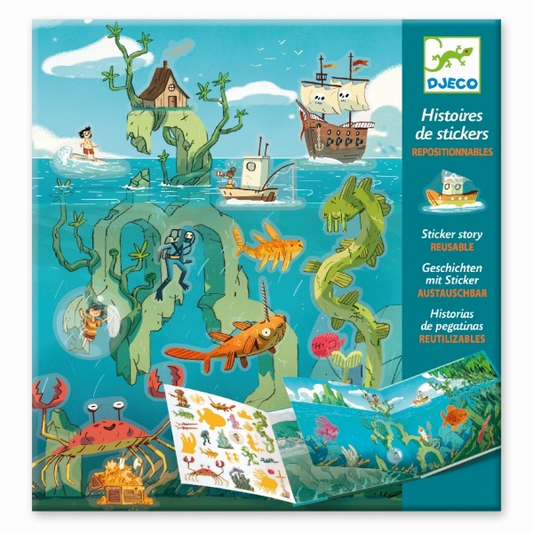 Geschichten mit Sticker: Meeresabenteuer