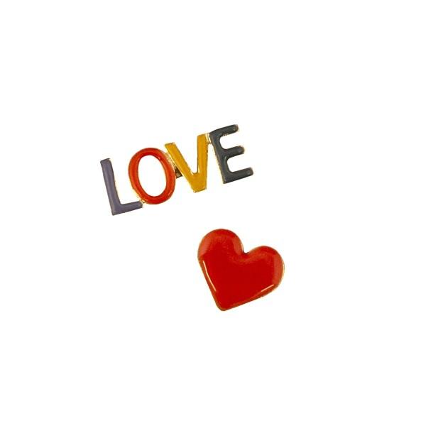 Pins Herz & LOVE