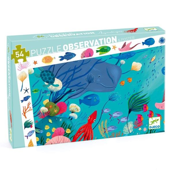 Puzzle Wimmelbild Unterwasserwelt - 54 Teile