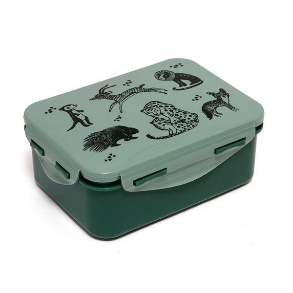 Brotbox Tiere grün