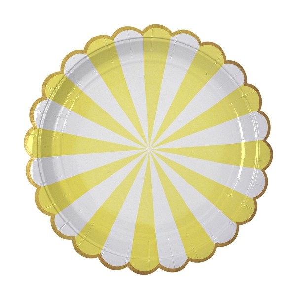 Toot Sweet Pappteller, yellow