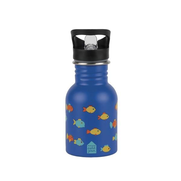 PETIT JOUR Edelstahl Flasche 0,35L Fische
