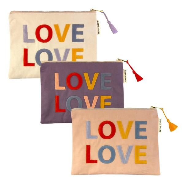 Täschchen LOVE sortiert