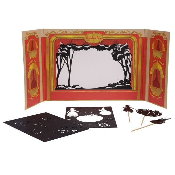 Kartontheater mit Schattenfiguren