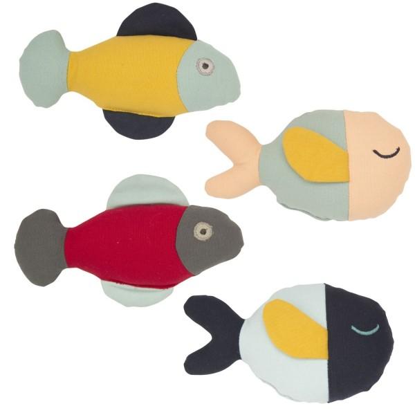 Rassel Fische, sortiert