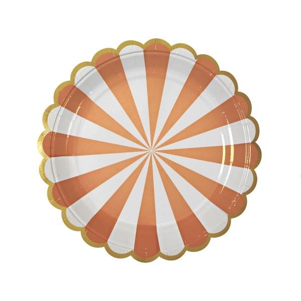 MERI MERI Toot Sweet Pappteller, orange