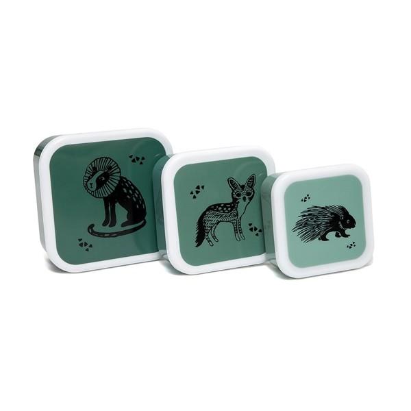 Brotbox Set Tiere grün