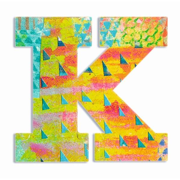 Buchstabe Serie Pfau - K