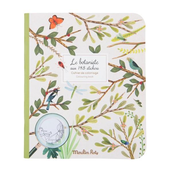 Mal- und Stickerbuch Le botaniste