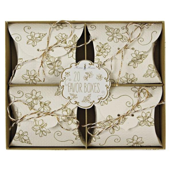 Favor Boxes elegant gold