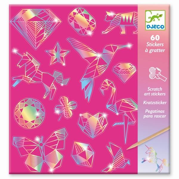 Kratzbild Sticker Diamant