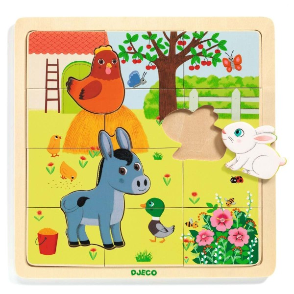 Holz Puzzle: Puzzlo Farm