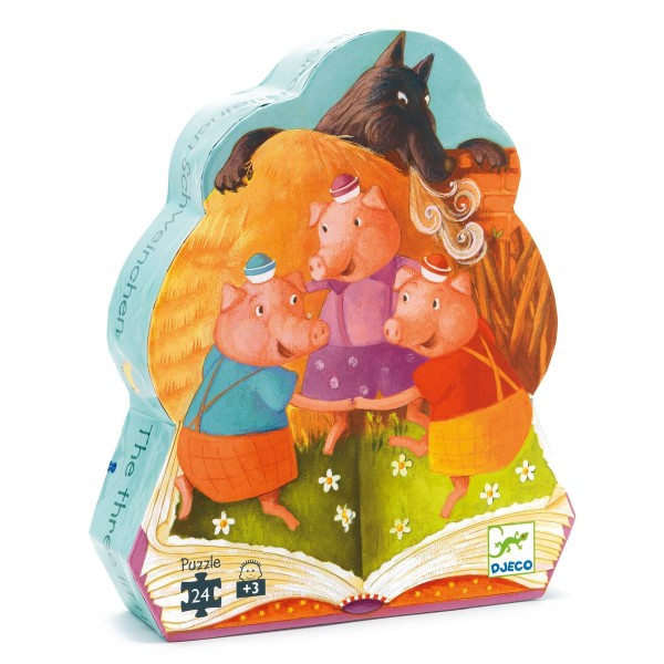 Puzzle: Die 3 kleinen Schweinchen - 24 Teile