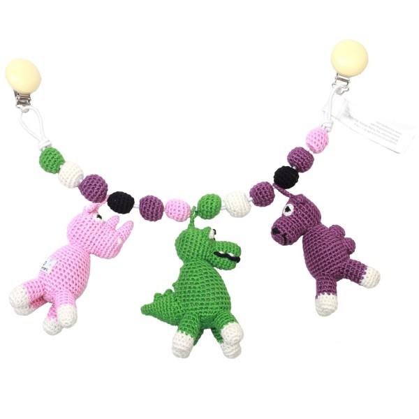 Kinderwagenkette - Kamel, Krokodil und Nashorn